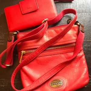 Fossil mini explorer coral crossbody and wallet